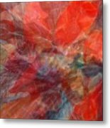 Poinsettia Abstract Metal Print