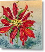 Poinsettia Metal Print