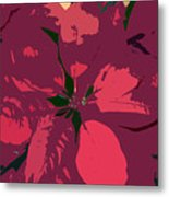 Poinsettias Work Number 4 Metal Print