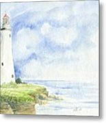 Point Aux Barques Lighthouse Metal Print