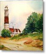 Point Betsie Lighthouse Michigan Metal Print