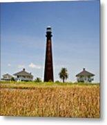 Point Bolivar Lighthouse Metal Print