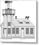 Point Cabrillo Architectural Drawing Metal Print