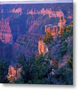 Point Imperial Sunrise 1-sq Metal Print