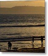 Point Loma California Surfers Metal Print