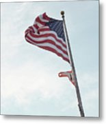 Point No Point American Flag Metal Print
