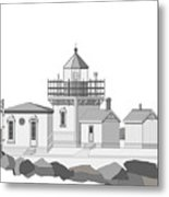 Point No Point As Architectural Drawing Metal Print