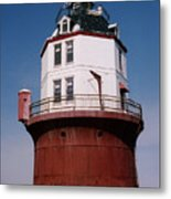 Point No Point Lighthouse Chesapeake Bay Maryland Metal Print