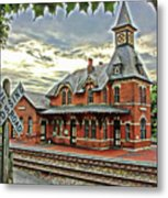 Point Of Rocks Train Station Metal Print