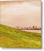Point Ormond To The City Metal Print
