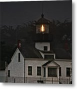 Point Pinos Lighthouse Ca Metal Print by Christine Till
