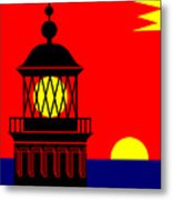 Point Queen Charlotte Light House Metal Print