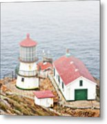 Point Reyes Lighthouse At Point Reyes National Seashore Ca Metal Print