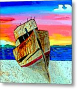 Point Reyes Wreck D2 Metal Print