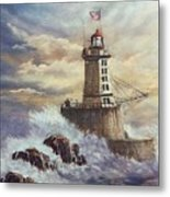 Point St. George Reef Lighthouse Metal Print