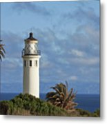 Point Vicente Lighthouse On The Cliffs Of Palos Verdes California Metal Print by Christine Till