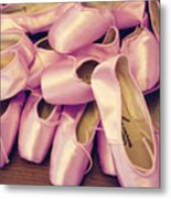 Pointe Shoes Metal Print