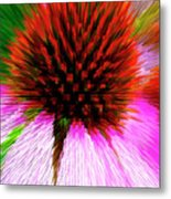 Pointed Flower Metal Print