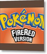 Pokemon Fire Red Emulator Metal Print