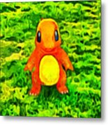 Pokemon Go Charmander - Da Metal Print