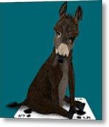 Poker Donkey Metal Print
