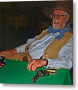 Poker Player Metal Print