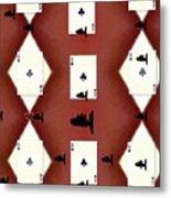 Poker Sharks Metal Print