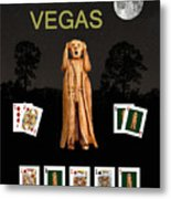 Poker Vegas Scream Metal Print