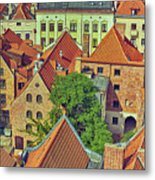 Poland, Torun, Houses. Metal Print