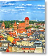 Poland, Torun, Urban Landscape. Metal Print