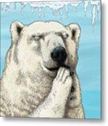 Polar Prayer Metal Print