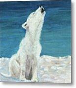Polar Pup Metal Print