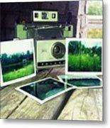 Polaroid Land 320 Metal Print