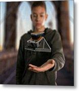 Polaroid Sx-70 On The Brooklyn Bridge Metal Print