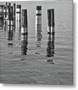 Poles In The Water Metal Print
