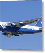 Polet Antonov An-124 Ra-82080 Landing Phoenix-mesa Gateway Airport January 14  Metal Print