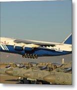 Polet Antonov An-124 Ra-82080 Taking Off Phoenix-mesa Gateway Airport January 15 2011 Metal Print