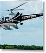 Police Helicopter Taking Off Metal Print