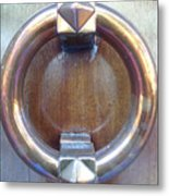 Polished Door Knocker Metal Print