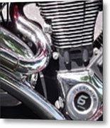 Polished Motorcycle Chrome Metal Print