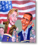 Political Puppets Metal Print