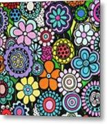 Polka Dot Bouquet Metal Print