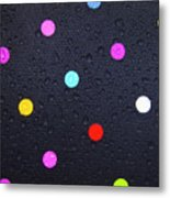 Polka Dot Umbrella Metal Print