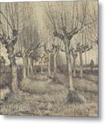 Pollard Birches Nuenen  March 1884 Vincent Van Gogh 1853  1890 Metal Print