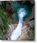 Pollat River Waterfall - Neuschwanstein Castle - Germany Metal Print