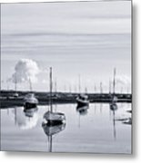 Reflections In A Creek  Metal Print