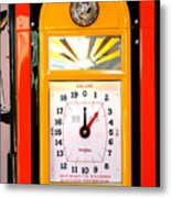 Poly Antique Gas Pump Metal Print