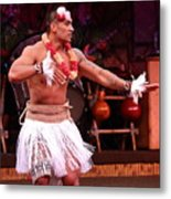 Polynesian Warrior Dancer Metal Print