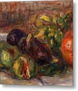 Pomegranate And Figs Metal Print