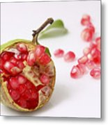 Pomegranate And Seeds  Metal Print
